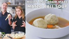 Passover is right around the corner! Join Molly Baz and Adam Rapoport in the Bon Appétit Test Kitchen as they make BA's best matzo ball soup. This soup is ve.