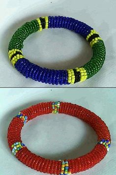 Two African Masai/Maasai beads bracelets The Masai of Kenya and Tanzania are people of great cultural diversity and uniquenes. Round Basket, Basket Bag, Mosaic Art, Kenya, Red And Blue, Best Gifts, Beaded Bracelets, African, Culture