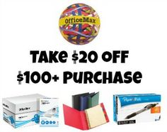 New Office Max coupons: http://www.coupondad.net/office-max-coupons/