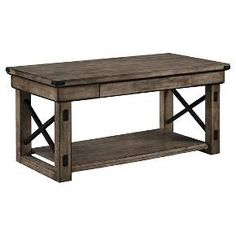 Ameriwood Wildwood Coffee Table - Rustic Gray