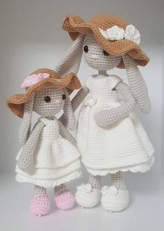 Mesmerizing Crochet an Amigurumi Rabbit Ideas. Lovely Crochet an Amigurumi Rabbit Ideas. Crochet Bunny Pattern, Crochet Rabbit, Crochet Animal Patterns, Doll Patterns, Free Crochet, Crochet Patterns Amigurumi, Amigurumi Doll, Crochet Dolls, Confection Au Crochet