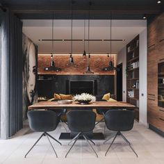 Loft Apartment Inspiration // Codecor SPB The Perfect Scandinavian Style Home Design Loft, Loft Interior Design, House Design, Apartment Interior, Apartment Design, Kitchen Interior, Interior Design Examples, Interior Design Inspiration, Scandinavian Style Home