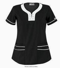 uniformes medicos con cuello chino - Buscar con Google Medical Uniforms, Work Uniforms, Modest Outfits, Casual Outfits, Maternity Scrubs, Scrub Shoes, Stylish Scrubs, Scrubs Uniform, Medical Scrubs