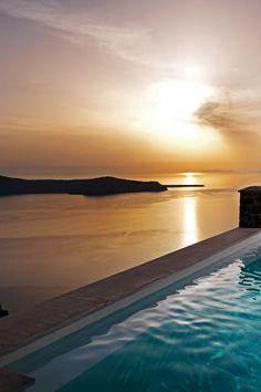 Sunset in Imerovigli, Santorini