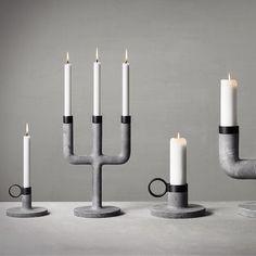 MENU Weight Concrete candleholders