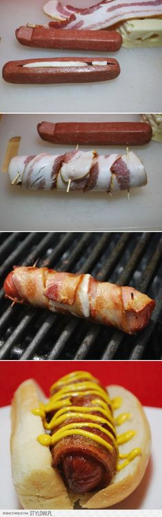 Cheese stuffed, bacon wrapped hot dog. Link takes you to a shirt but I think you get the idea