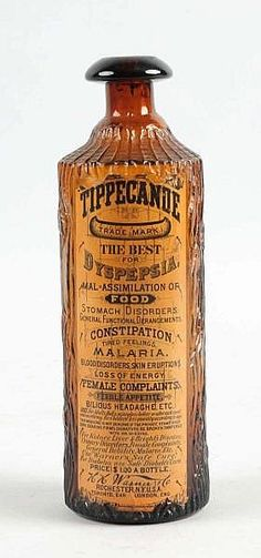 S o l a rEarth Can You s t o m a c h T h i s Tippecanoe.for stomach ailments, constipation, malaria. Antique Glass Bottles, Apothecary Bottles, Vintage Bottles, Bottles And Jars, Vintage Ads, Vintage Perfume, Vintage Advertisements, Perfume Bottles, Old Medicine Bottles