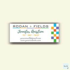 Rodan and Fields Sticker Address Label, Rodan and Fields Gift Cards, Rodan + Fields Business, Rodan and Fields Cards 0068