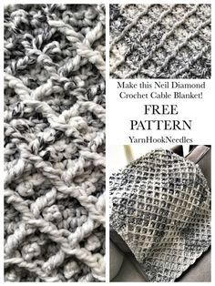 The Neil Diamond Crochet Cable Blanket with FREE Pattern! - YarnHookNeedles - YarnHookNeedles