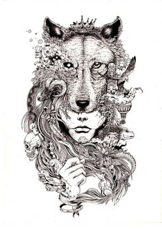 http://www.fubiz.net/2014/11/23/hyperdetailed-drawings-by-kerby-rosanes/