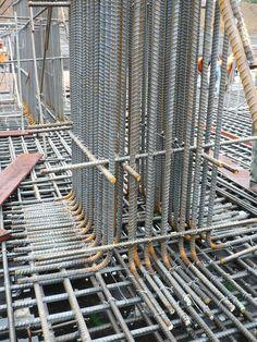 Ejecución cimentación 06 Steel Structure Buildings, Concrete Structure, Building Structure, Civil Engineering Works, Civil Engineering Construction, Steel Frame Construction, Construction Design, Bungalow House Design, House Front Design