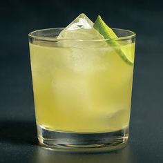 The Hubble's Law Cocktail: Absolut Vodka, Lime Juice, Amaro Montenegro, Demerara Syrup, Lime wheel.