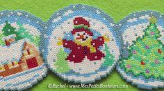 Modèle de boule bonhomme de neige en perles Hama Minis