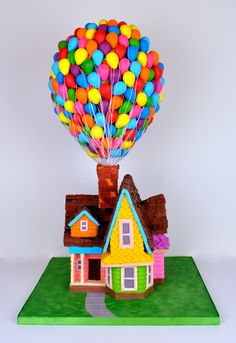Disney Movie Up House Cakes by Melissa Alt Cakes Disney Movie Up, Cakes By Melissa, House Cake, Sculpted Cakes, Up House, Custom Cakes, Cake Art, Cake Ideas, Cube