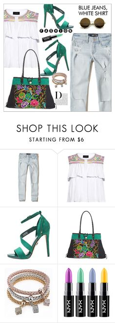 """""""Hollister Low-Rise Crop Super Skinny Jeans"""" by biange ❤ liked on Polyvore featuring Hollister Co., Saloni, Munro American, NOVICA and WithChic"""