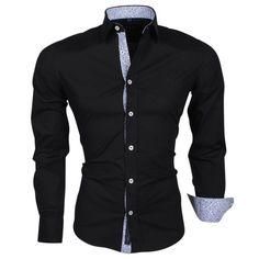 Carisma - Trendy Italienisch Hemd -Tailliert - Schwarz