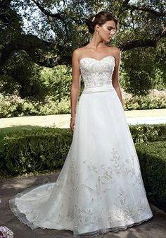 Ageless Tulle A line Dropped Waist Sweetheart Floor Length Wedding Dress