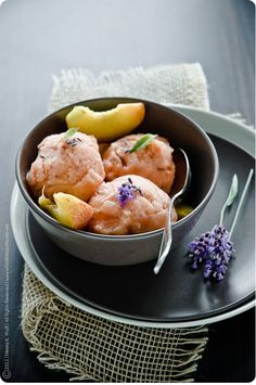 Peach and Lavender Sorbet Whats for Lunch Honey recipes with sylvie :: peach