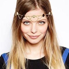 Nero 2 Tiers Casual and Party and Evening Head Chain for Women, Headpieces for Girls ** You can find more details by visiting the image link.