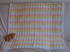 Shells and Double Crochets Baby Afghan pattern