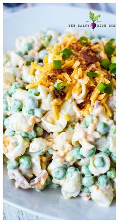 over pea salad, because ranch pasta salad with peas is taking your place! - Side Dish Recipes -Move over pea salad, because ranch pasta salad with peas is taking your place! Mayo Pasta Salad Recipes, Bacon Ranch Pasta Salad, Pea Salad Recipes, Best Pasta Salad, Pea Recipes, Macaroni Salad, Side Dish Recipes, Cooking Recipes, Pasta Side Dishes