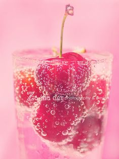 I would drink this just because it is pretty! #cherry #pink #pop