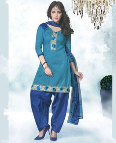Buy Alluring Blue Patiala Salwar Kameez online at  https://www.a1designerwear.com/alluring-blue-patiala-salwar-kameez-2  Price: $16.38 USD