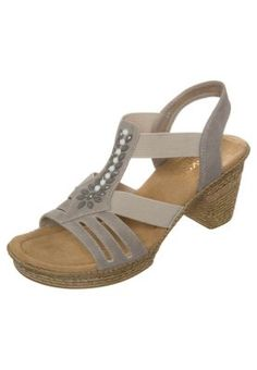 Sandaalit nilkkaremmillä - harmaa