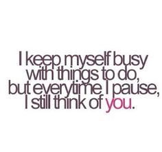 I've been going crazy keeping busy, but when I have time you're always on my mind. #milso