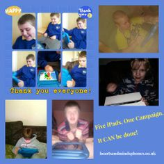 Five iPads, One Campaign  Reiss, Max, Seth, Max and Karl have all now received iPads via the Hearts and Minds mobile phone recycling scheme, through one campaign, involving Manchester Mum, Annette Jackson, who also spoke about #autism at the recent Viva Las Vegas Ball. Heart And Mind, Ipads, Reiss, Autism, Manchester, Jackson, Recycling, Campaign, Hearts