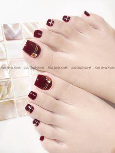 Ny Nails, Feet Nails, Swag Nails, Cat Nail Designs, Fancy Nails Designs, Pretty Toe Nails, Cute Toe Nails, Feet Nail Design, Christmas Gel Nails