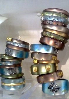 Mix colors, shapes, and all different sizes. Don't be boring! alexisbittar.com