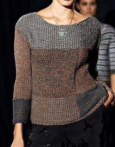 Если Вы уже можете связать свитер, возьмите на вооружение эту модель! Выглядит фантастически! На сайте Люди Вяжут представлена модель №10 из журнала Lookbook 1, пряжа Roma. Приведена инструкция по вязанию для размера изделия: 42/44, 46/48 и 50/52.