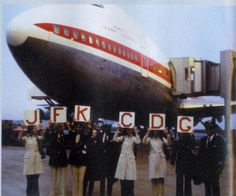 The first ever TWA flight from JFK-CDG.