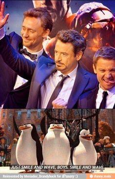Loki, Iron Man & Hawkeye.