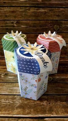 Falls Ihr noch eine schnelle Verpackung für ein Geschenk zum Muttertag sucht… ich habe eine Hexagon Box für Euch Viel Spaß beim Anschauen…