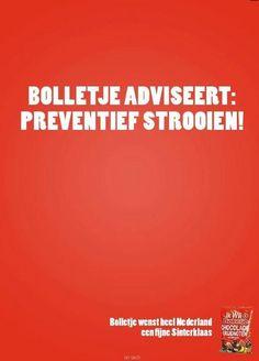 Bolletje Sinterklaas & sneeuw inhaker:preventief strooien