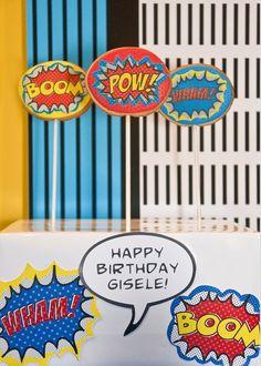 Anders Ruff Custom Designs, LLC: A Comic Style Wonder Woman Super Hero Birthday Party