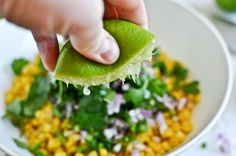 Just Like Chipotle's Corn Salsa. Would be great with roasted, fresh corn! #vegan
