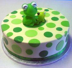 Frog Baby Shower. Hell, I want this for my birthday cake!
