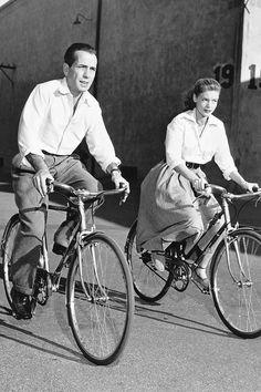 Humphrey Bogart & Lauren Bacall, on the set of Key Largo, 1948