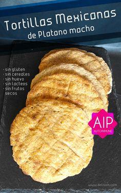 Tortillas Mexicanas Multiusos   AIP: sin gluten, sin huevo, sin lácteos, sin frutos secos, sin cereales