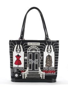5fc28c63eaf43 Black Medium Couture Shop Edith. By  Lulu Guinness. Painted Bags