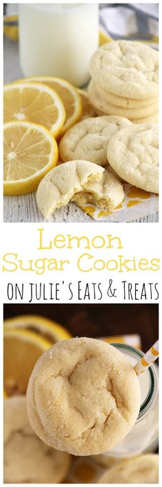Lemon Sugar Cookies ~ Easy, Soft Lemon Pudding Cookies Rolled in Sugar! But there are so many other cookies that are more tasty. Lemon Desserts, Lemon Recipes, Just Desserts, Baking Recipes, Sweet Recipes, Cookie Recipes, Delicious Desserts, Dessert Recipes, Yummy Food
