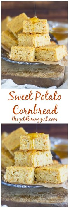 With a touch of honey, this sweet potato cornbread is the most moist you'll find. It's not dry or bland like most cornbreads, and the sweet potatoes and honey add subtle flavor!