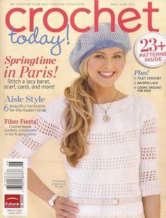 Crochet Today May June - jupe rouge, mmmmm! Crochet Gratis, Crochet Chart, Filet Crochet, Crochet Stitches, Knit Crochet, Crochet Patterns, Knitting Magazine, Crochet Magazine, Knitting Books