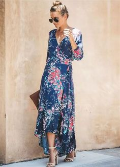 8e510090aeb Blue Floral Maxi Dress 2019 Price    56.99   piece Size   S - M -