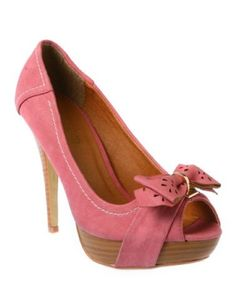 Pink Sophie Peep-Toe Pump- I am so in love with peep-toe shoes this year!! by sylvia