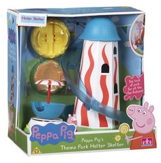 Amazon.com: Peppa Pig Theme Park Helter Skelter Playset Toy: Toys & Games