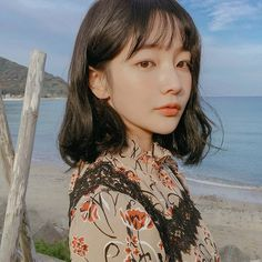""""""" me and you , you and me , we are happy family """" Korean Girl, Asian Girl, Hwa Min, Shot Hair Styles, Korean People, Girls Characters, Dream Hair, Sooyoung, Ulzzang Girl"""